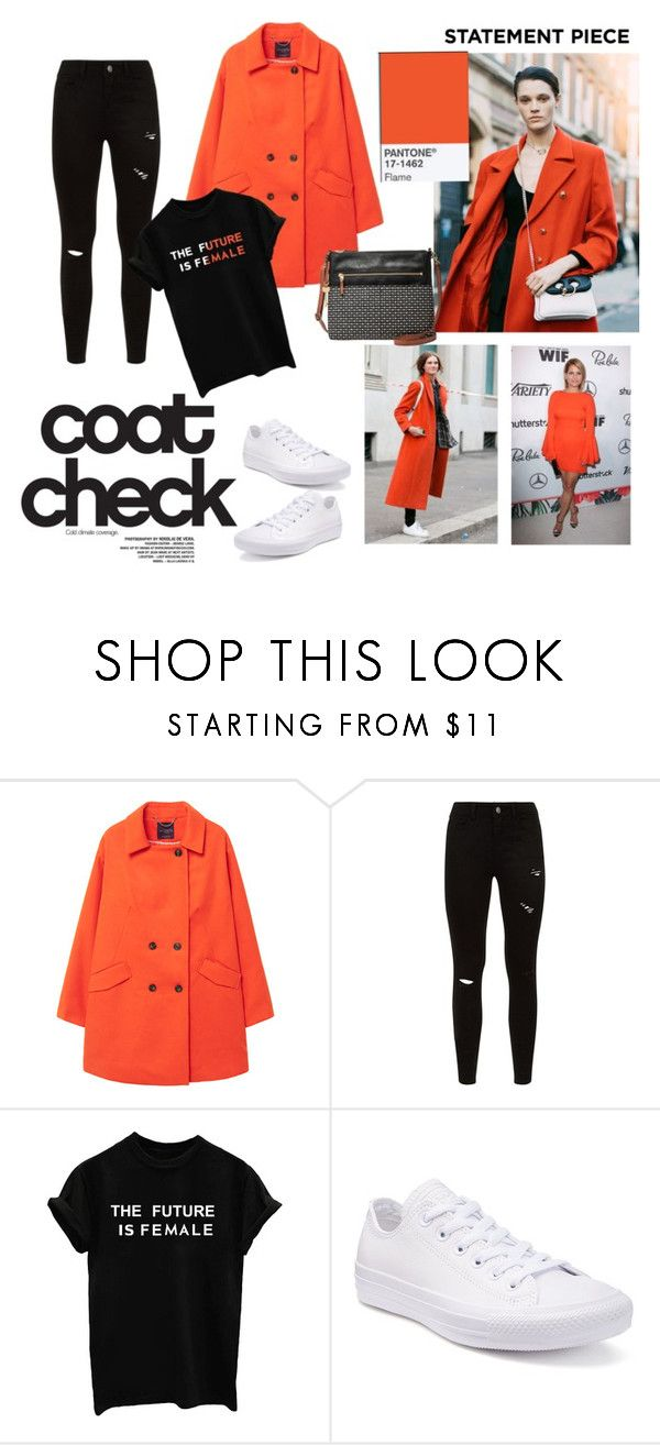 Statement Coat flame thrower by paisleyvelvetandlace on Polyvore featuring MANGO, Converse and statementcoats