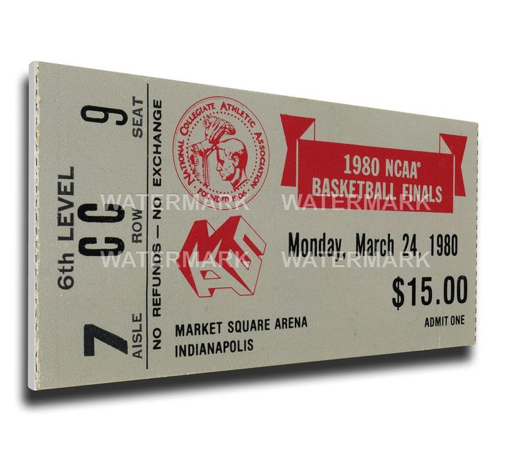 Louisville Cardinals Wall Art - 1980 NCAA Basketball Finals Canvas Mega Ticket