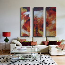 0011 Abstract paintings triptich