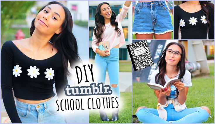 DIY Tumblr Inspired School Clothes! Shopping Life Hacks for Back To Scho...