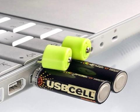 Rechargeable Batteries Charged Via USB