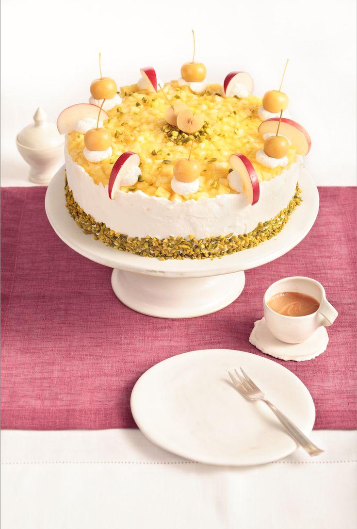 Ananas biskuit kuchen