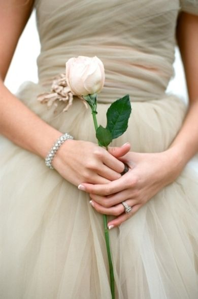 Sometimes a single rose is all you need and a pretty dress, of course!