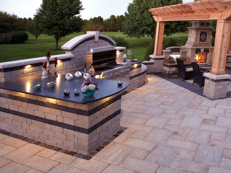 Stone BBQs | Brussels Dimensional Stone   Limestone With A Series 3000  Black ... Bbq IdeasPatio IdeasBackyard ...