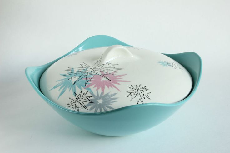 Midwinter Modern Quite Contrary Lidded Tureen Serving Dish Jessie Tait 1950s #Tureens