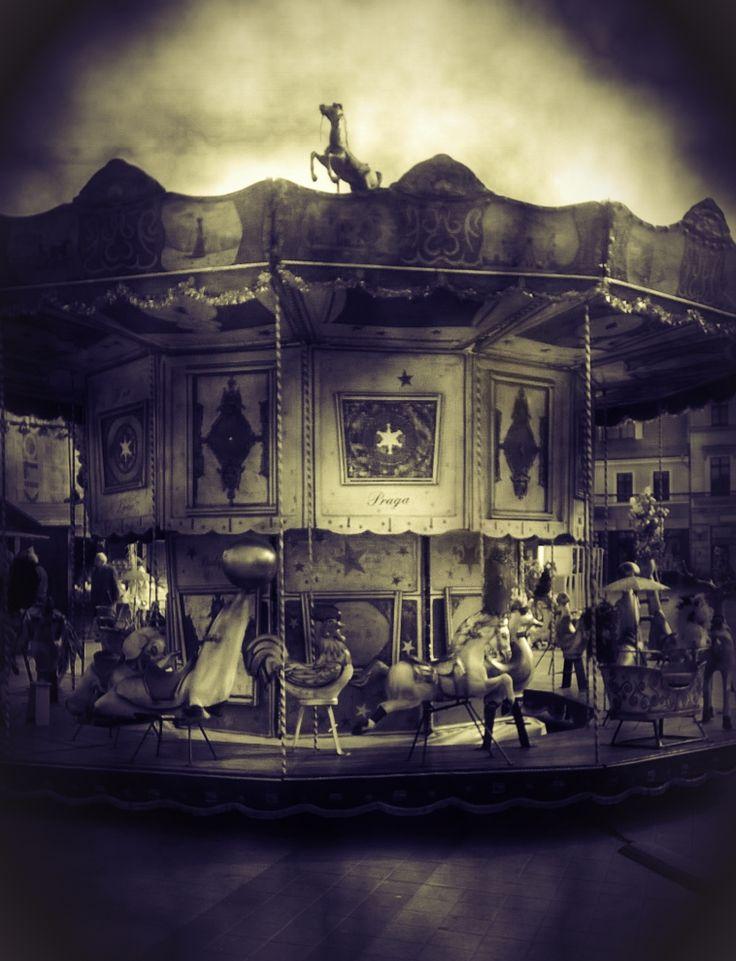 Old merry-go-round, photo