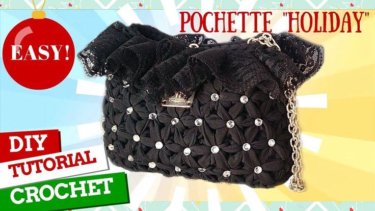 "[Tutorial uncinetto #21] Pochette ""Holiday""   Pattern crochet    Katy Ha..."