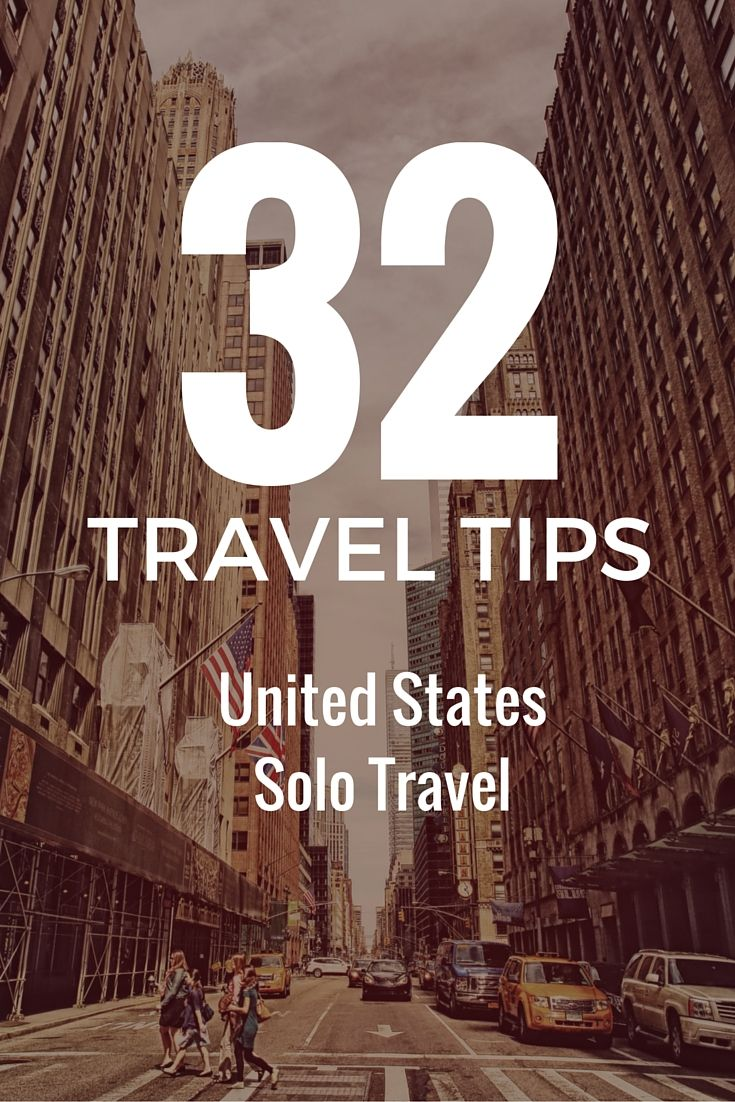 32 tips for travelling the United States of America alone. Solo travel tips http://solotravelerblog.com/travel-to-america-tips/