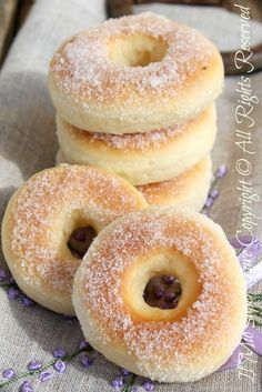 Baked doughnuts.