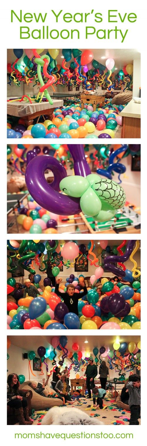 New Years Eve Balloon Party -- Moms Have Questions Too