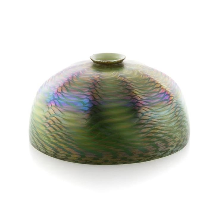 Buy Online View Images And See Past Prices For Tiffany Green Favrile Glass Shade Invaluable Is The Worlds Largest Marketplace Art Antiques