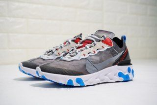 f9c7980dc971 Discount Nike Upcoming React Element 87 Dark Grey Pure Platinum AQ1090-003  Men s Running Shoes Sneakers