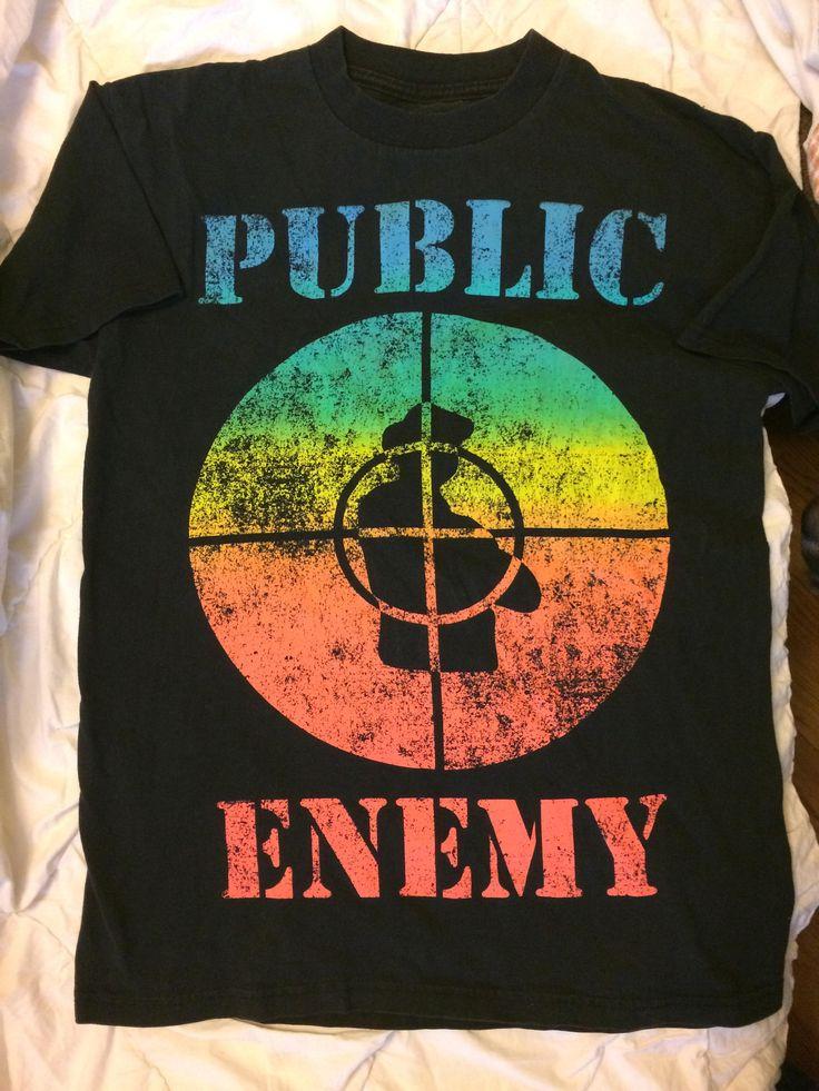 Vintage Black Public Enemy Fight The Power T-Shirt Size M by JensOddsAndEnds on Etsy