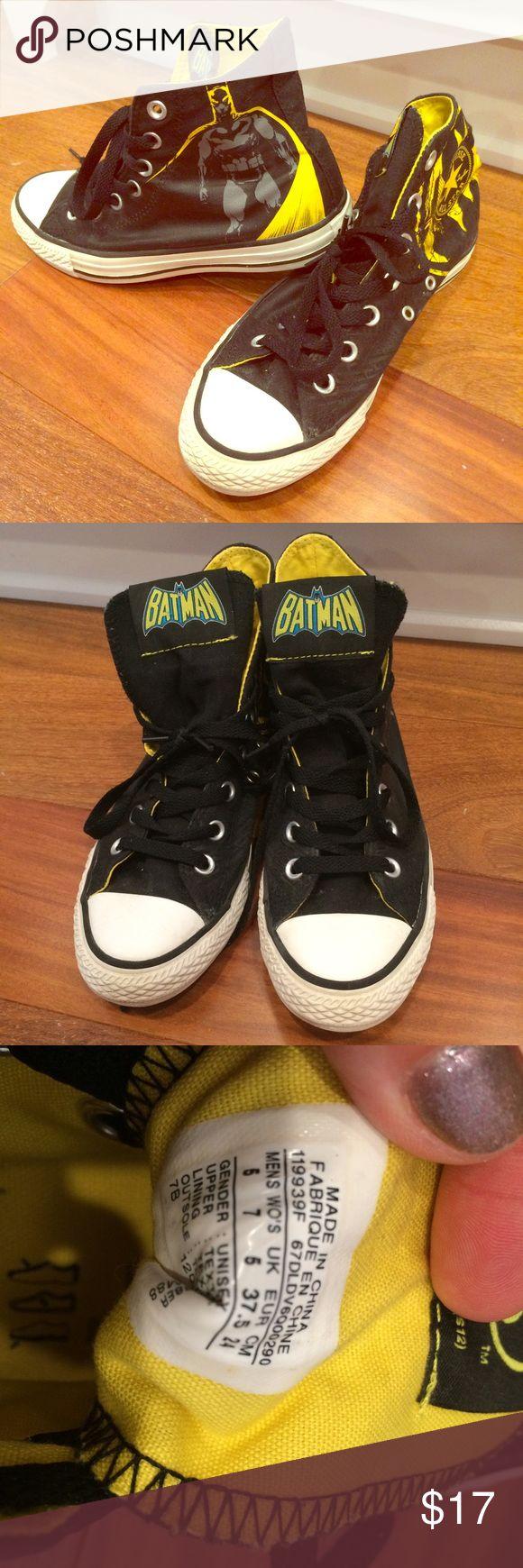 Batman Converse limited Edition Men's 5, women's 7. EUR 37.5. Very good condition. Limited edition Batman shoes. Bundle for discount! Converse Shoes Athletic Shoes