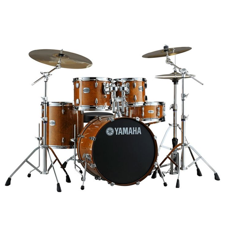 Yamaha Stage Custom drums feature 100% birch shells and quality metal parts. They also feature the Yamaha Enhanced Sustain System (YESS) that provides minimum contact of the hardware with the shell, r