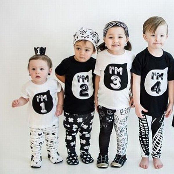 KIDS LONG SLEEVE TOP GIRLS TODDLER BOYS T-SHIRT TOPS TEE 2-3-4-5YEARS COTTON