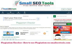 Plagiarism Checker - How to use Plagiarism on smallseotools.com
