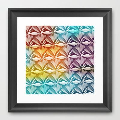 PYRAMID PATTERN Framed Art Print by hardkitty - $35.00