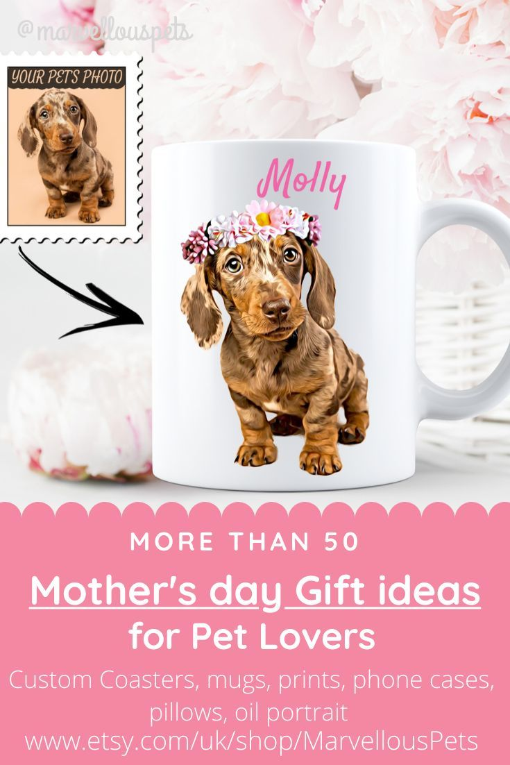Custom Dachshund Coffee Mug Personalized Sausage Dog Mug Dog Mom