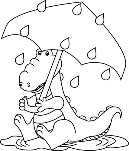 Rain Coloring Pages: 44 Best Images About Clip Art-Weather On Pinterest