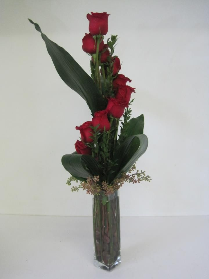 Great look for a different Valentines day arrangement