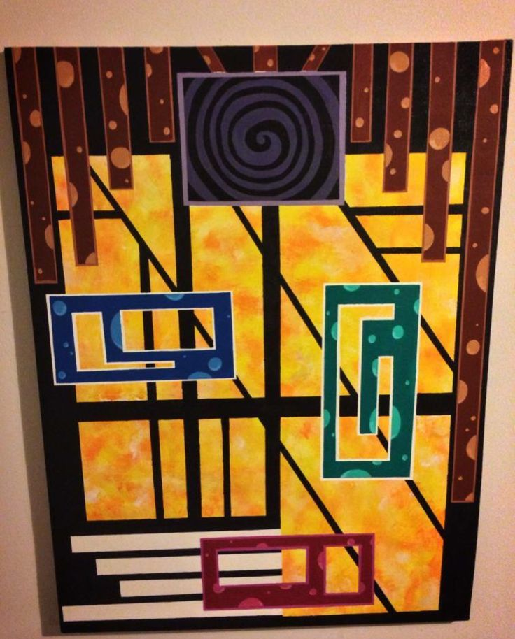The Perception of Beauty (2013) Dry Acrylic/ 24x36  This piece represents the question of if real beauty is determined by the facial shapes of someone or if it is more integrity of the personality within #abstractpainting #geometricalabstract