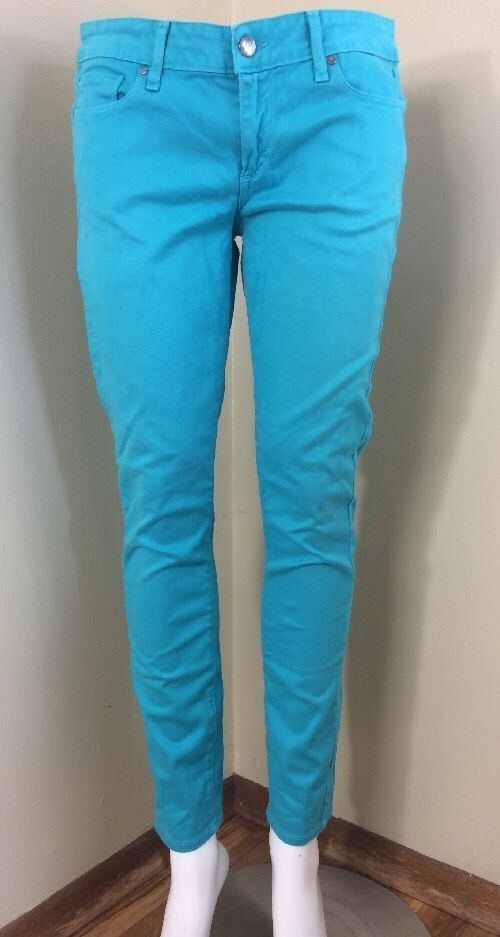 Women's PAIGE Peg Skinny Bright Blue Jeans 29 X 29 EUC ~7350 #Paige #SlimSkinny