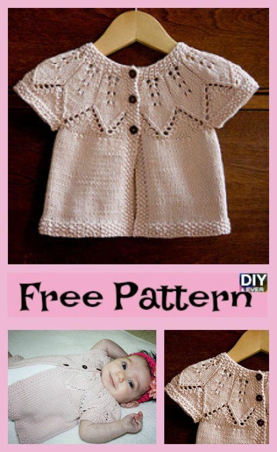 59f6ac99a Cute Knitting Baby Cardigan – Free Patterns  freeknittingattern  babygift   cardigan