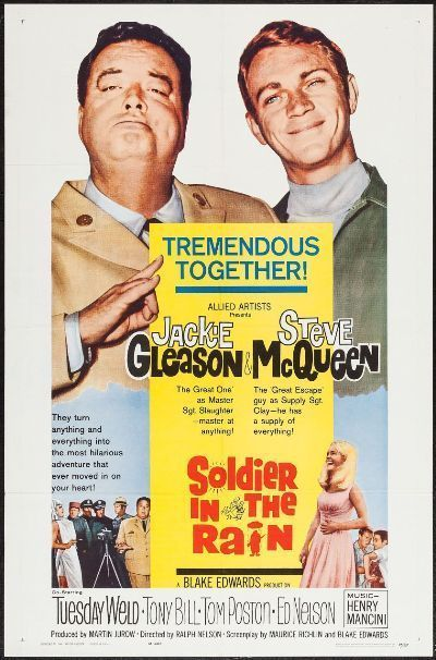 SOLDIER IN THE RAIN - 1964 - original 27x41 1-Sheet Movie Poster - STEVE MCQUEEN