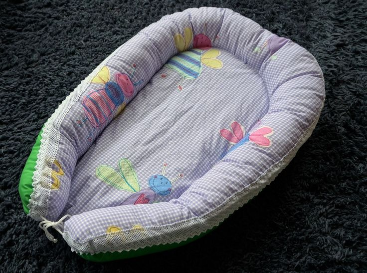 Baby nest - Lilac-Breasted Roller Bird - Funky, cosy and safe beds for little people