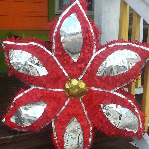 Poinsetta Christmas piñata