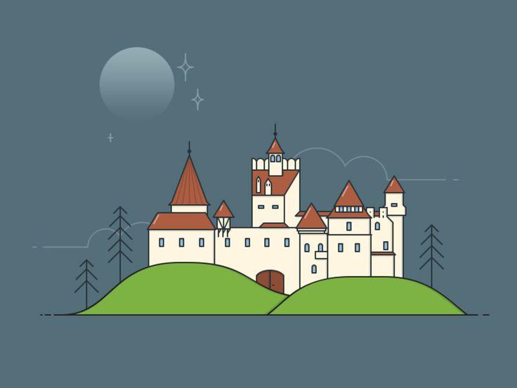 Transylvanian Castle Illustration - EpicPxls freebie