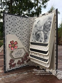 Megumi's Stampin Retreat, Stampin' Up! Timeless Elegance DSP, Stampin' Up1 Birthday Blossoms Stamp Set, Stampin' Up! Lots of Labels Framelits, Stampin' Up! Updates Essentials Paper-Piercing, Stampin' Up! Elegant Dots Embossing Folder