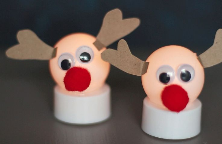 Turn ping pong balls and battery tea lights into adorable Reindeer with this fun, holiday and winter craft! After you make them, turn the switch on the bottom of the tea light on and watch as they ...