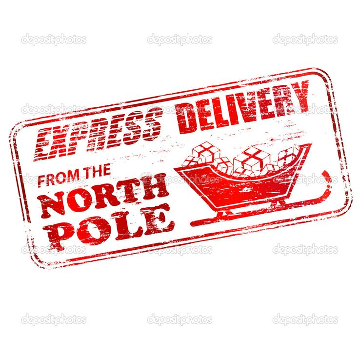 126 best miniature christmas labels images on pinterest express delivery from the north pole rubber stamp illustration royalty free photos pictures images and stock photography negle Choice Image