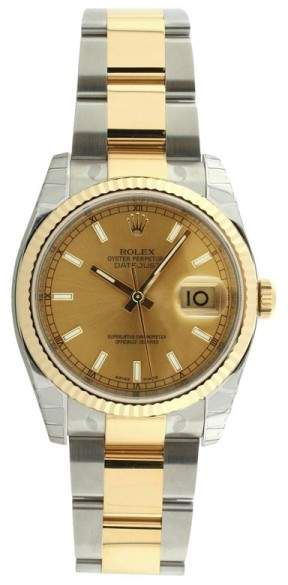 Rolex Datejust II 116233 Oyster Stainless Steel & 18K Gold Factory Champagne Stick Dial Mens Watch. Rolex mens watches for professionals are authentic rolex, either they prefer black rolex or gold rolex watch.