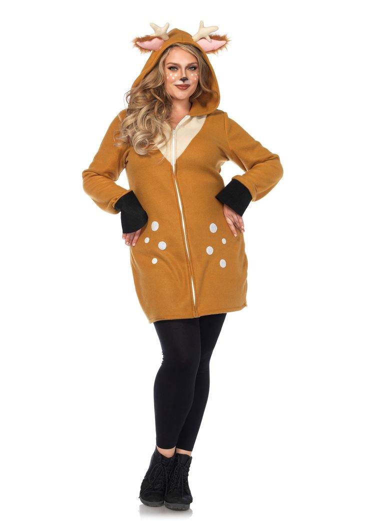 Plus Size Cozy Fawn Costume