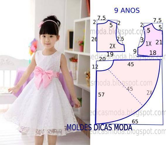 molde de vestido para niña de 8 años01