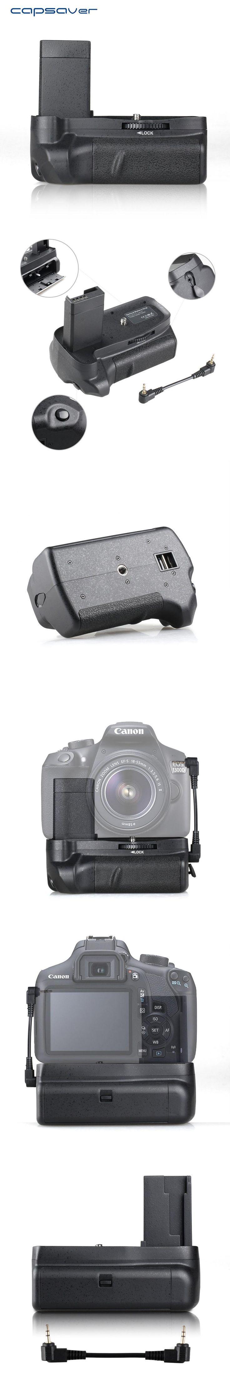 capsaver Vertical Battery Grip Holder for Canon EOS 1100D 1200D 1300D Rebel T3 T5 T6 EOS Kiss X50 Multi-power Battery Handgrip