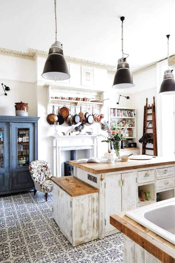 A Kitchen Island Makes Everything From Cooking To Dining A Breeze Discover These Inspiring Kitchen Islan Rustic Country Kitchens Home Decor Kitchen Home Decor Vintage style kitchen cabinets