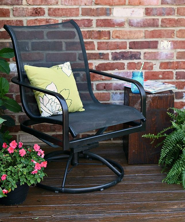 17 Best Ideas About Painted Patio Furniture On Pinterest