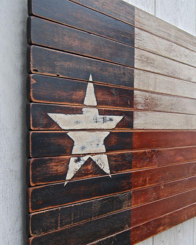 Texas Lone Star Wooden Wall Art on BourbonandBoots.com #texas #reclaimedwood