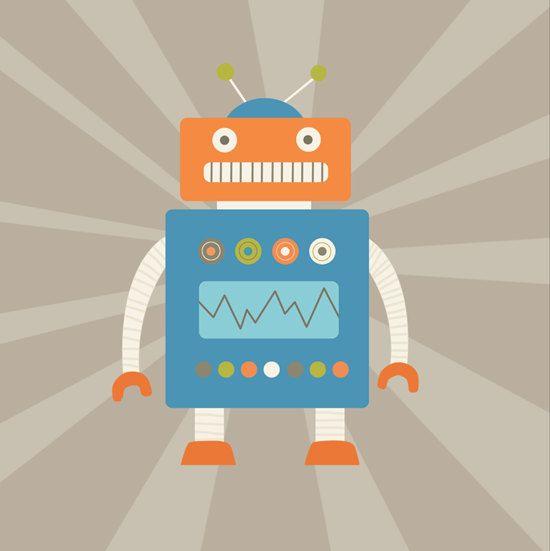 226 best ROBOT images on Pinterest Robot, Child room and Patterns - new robot blueprint vector art
