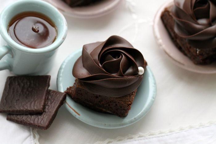 """after eight brownies"": Decor Ideas, Fudge Brownies, Teas Cups, Food, Brownies Recipe, Baking, Chocolates Brownies, Beautiful Rose, Chocolates Rose"