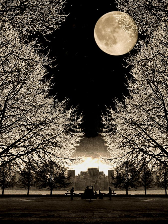 Earth, Sky, Moon.
