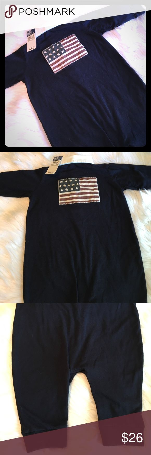🇺🇸NWT Ralph Lauren Boy's Flag One Piece Sz L-18M 🇺🇸Brand NEW Polo by Ralph Lauren American Flag One Piece Outfit🇺🇸  🇺🇸Just in time for your July 4th Celebrations🍉🍗🌭🌽 🇺🇸Navy Blue w/American Flag on the back 🇺🇸Rugby w/bottom snaps 🇺🇸Size L 🇺🇸Never worn, tags still attached!!  Please feel free to ask questions...(6-317)  NOTE: 🚫Trades or off site transactions  From a Clean, 🚭Free, 🐶&🐱Friendly🏡 🎥For your protection & mine ALL sales are recorded from preparation to…