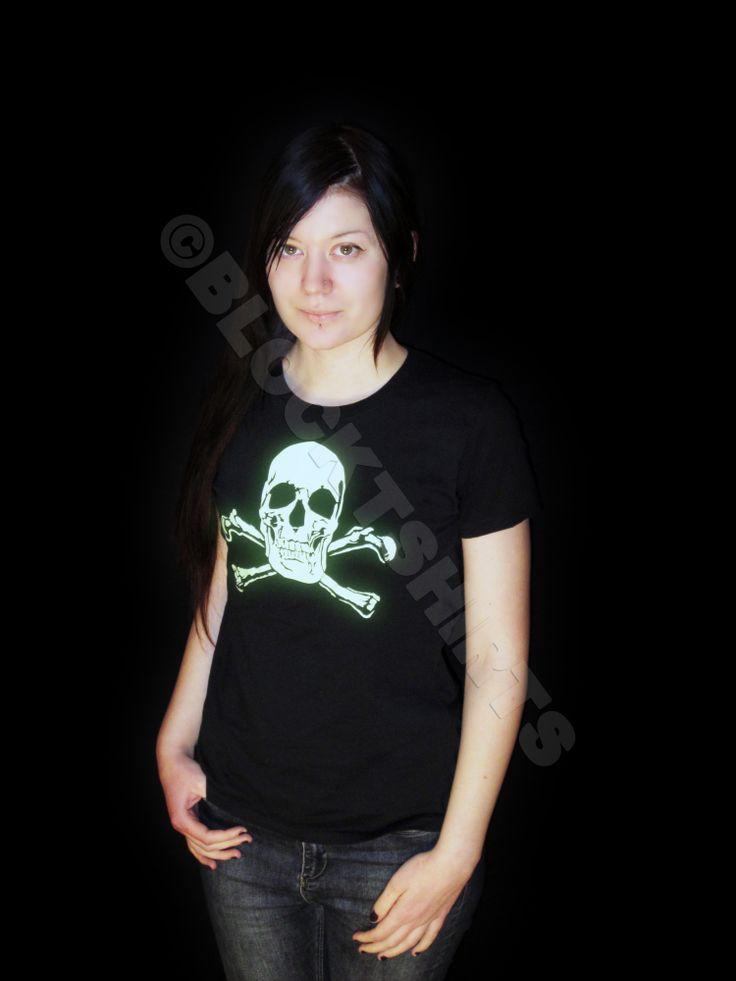 Glow in the dark skull t-shirt by Block