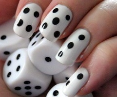 Simple dice nails....y didn't i think of that!
