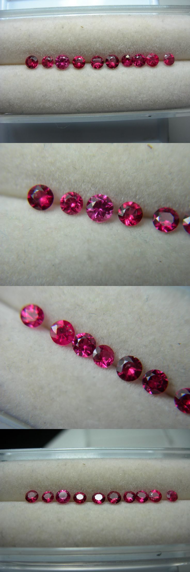 Spinel 110873: 10 Very Rare Fine Red Spinel Gems Mogok Burma Natural Diamond Cut Fluorescent -> BUY IT NOW ONLY: $160.49 on eBay!