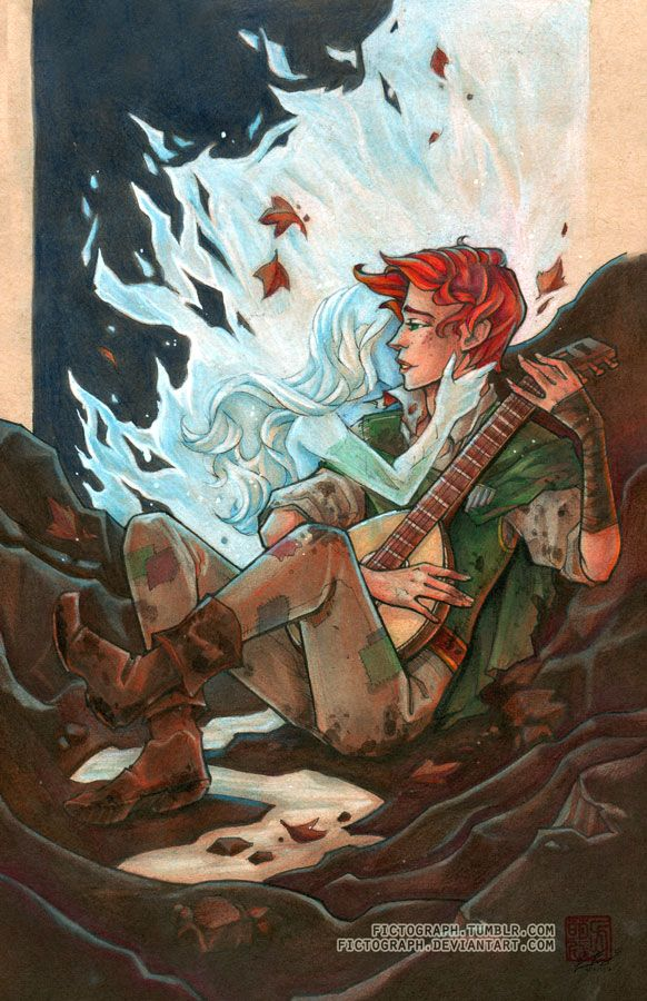 Kvothe, from the Name of the Wind (Kingkiller Chronicle).